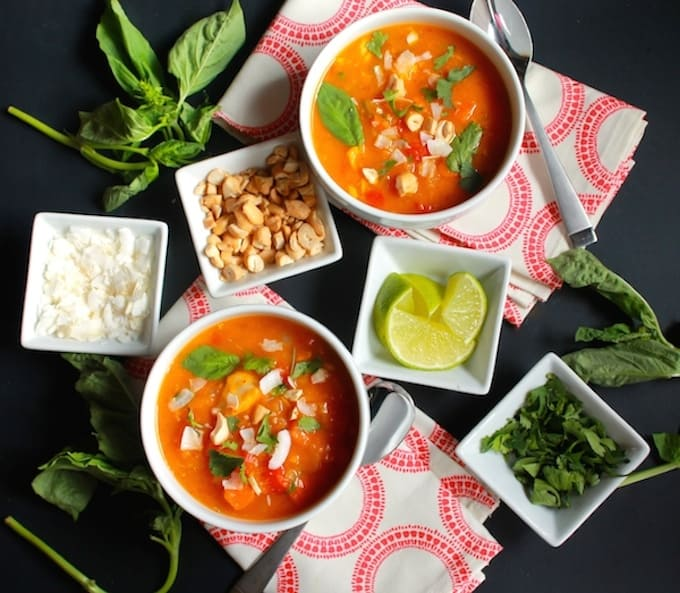 Thai Butternut Squash and Chicken Soup | Destination Delish