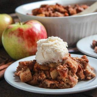 Caramel Apple Butterscotch Bread Pudding | Destination Delish