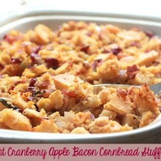 Light Cranberry Apple Bacon Cornbread Stuffing