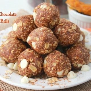 Pumpkin White Chocolate Oatmeal Balls