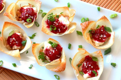 Turkey Cranberry Cream Cheese Wontons