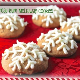GIngerbread Rum Meltaway Cookie with Cream Cheese Frosting
