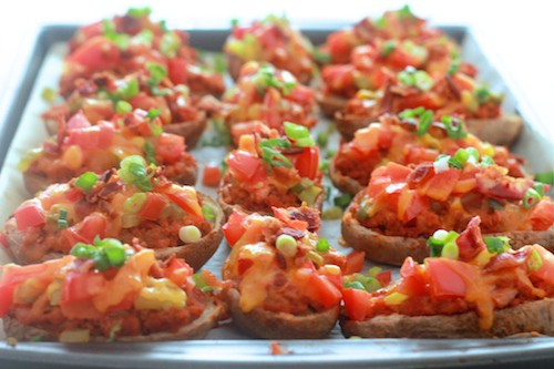 Bacon Cheeseburger Potato Skins