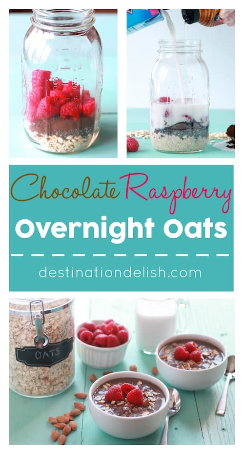 Chocolate Raspberry Overnight Oats