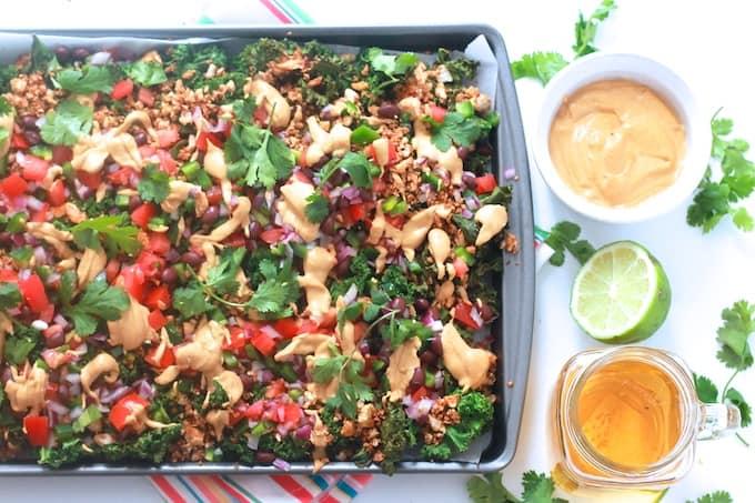 Loaded Kale Nachos | Destination Delish