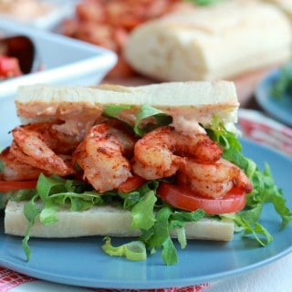 Steamed Shrimp Po Boys with Cajun Vegetable Quinoa