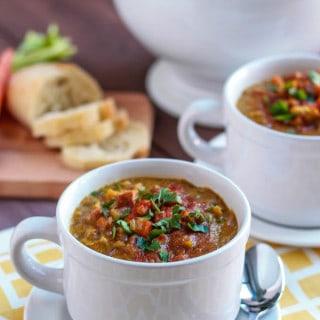 Slow Cooker Split Pea Soup | Destination Delish