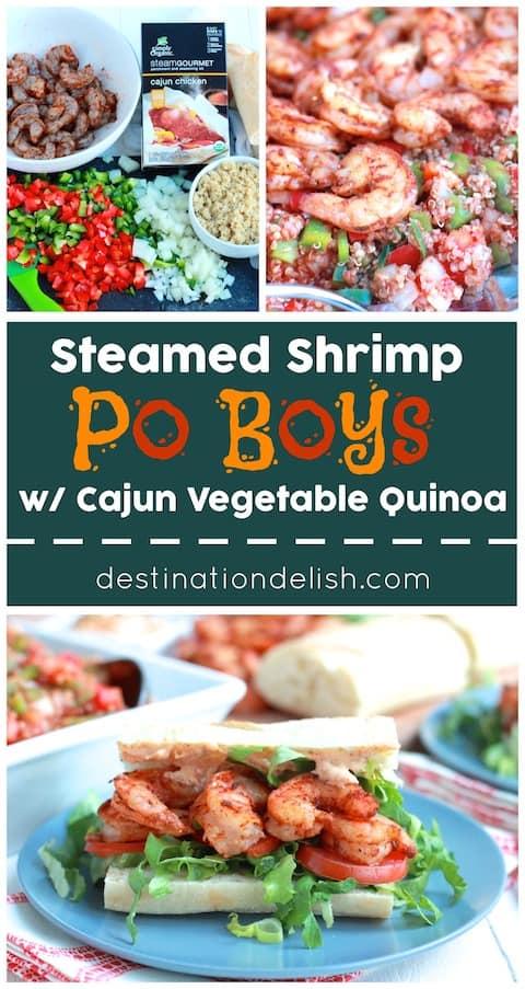 Steamed Shrimp Po Boys with Cajun Vegetable Quinoa