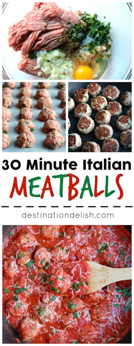 30 Minute Italian Meatballs