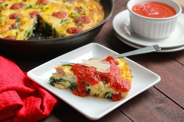 Spaghetti Squash and Meatball Frittata