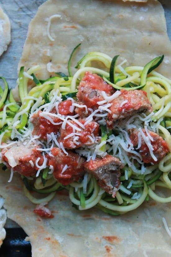 Zucchini Spaghetti Pie Panino