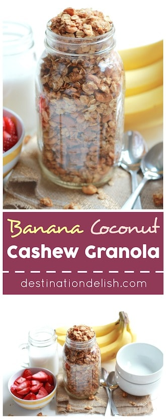 Banana Coconut Cashew Granola