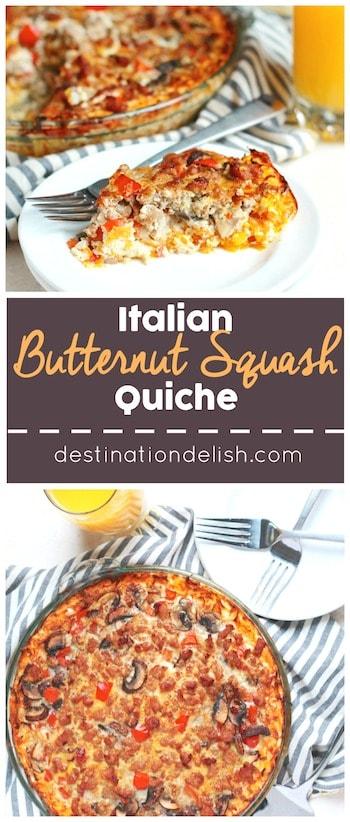 Italian Butternut Squash Quiche