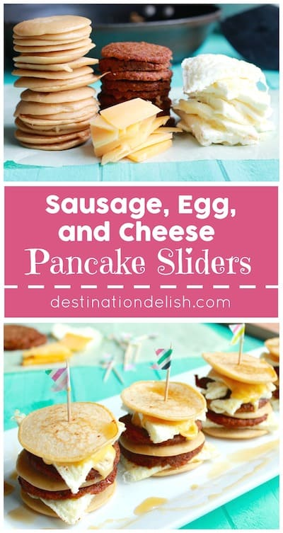 Sausage, Egg, and Cheese Pancake Sliders
