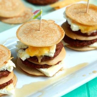 Sausage, Egg, and Cheese Pancake Sliders