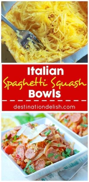 Italian Spaghetti Squash Bowls