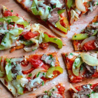 Grilled Cheesesteak Flatbread Pizza