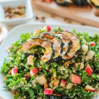 Fall Harvest Quinoa and Kale Salad