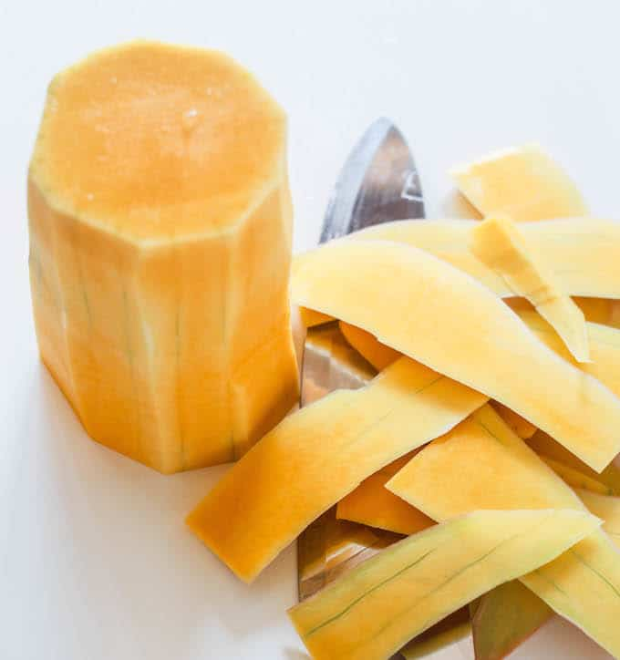 How to cut and peel and butternut squash | Destination Delish
