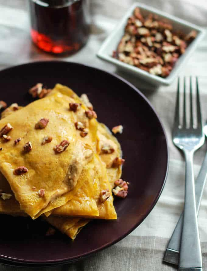 Pumpkin Cream Cheese Crepes | Destination Delish