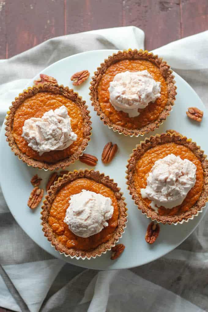 Mini Pumpkin Pies | Destination Delish