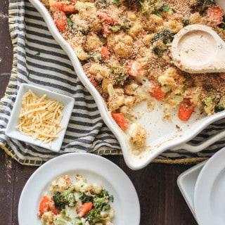 Roasted Vegetable Medley Gratin