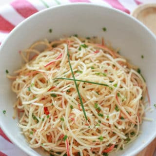 Spiralized Apple and Parmesan Salad