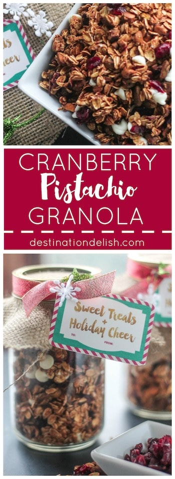 Cranberry Pistachio Granola | Destination Delish