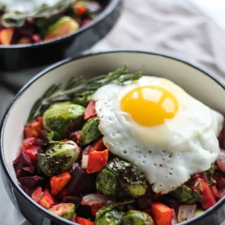 Rosemary Roasted Vegetable Breakfast Bowls | Destination Delish