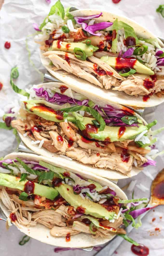 Korean Pulled Chicken Tacos Destination Delish