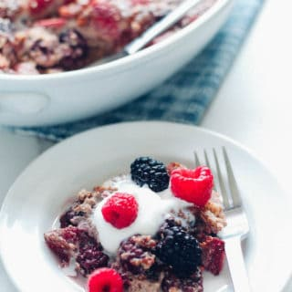 Banana Berry Quinoa Breakfast Bake | Destination Delish – A wholesome and delightfully sweetened quinoa dish combining the comforting flavors of banana with juicy summer berries