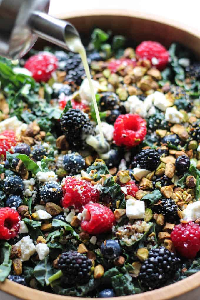 Summer Berry Quinoa and Kale Salad