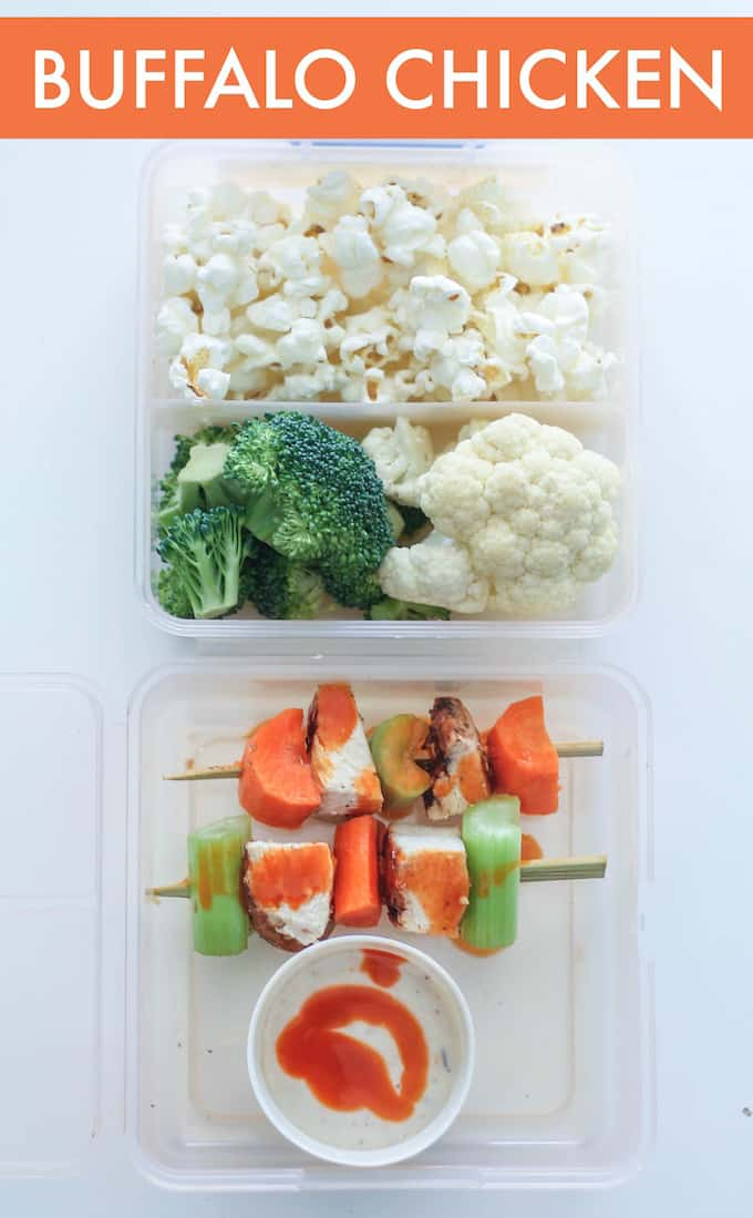 Healthy Gluten Free Lunch Skewers | Destination Delish - With fresh fruits and veggies, cheese, and a few common dinner leftovers, I've switched up our lunch routine through skewers!
