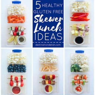 Friday Five: Healthy Gluten Free Lunch Skewers